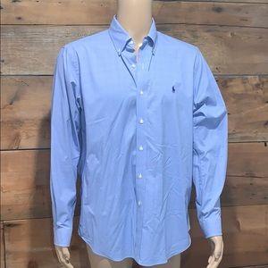 Polo Ralph Lauren Mens Blue Check Dress Shirt L